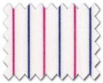 160's Superfine Cotton Pink/Blue Stripe