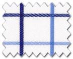 160's Cotton Light Blue/Navy Check