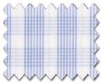 160's Superfine Cotton Light Blue Check