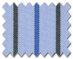 160's Superfine Cotton Light Blue/Blue/Black Stripe