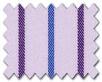 160's Superfine Cotton Purple/Blue Stripe
