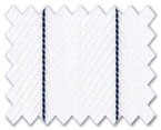 Wrinkle Free Cotton White Stripe