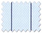 Wrinkle Free Cotton Light Blue Stripe