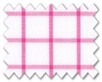 Wrinkle Free Cotton Pink Check