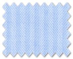 Wrinkle Free Cotton Light Blue Herringbone