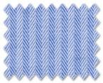 Wrinkle Free Cotton Blue Herringbone