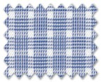 Wrinkle Free Cotton Dark Blue Check