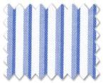 Wrinkle Free Cotton Blue/Light Blue Stripe