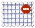 Wrinkle Free Cotton Navy Blue Check