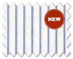 Wrinkle Free Cotton Navy Blue Stripe