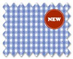 Wrinkle Free Cotton Light Blue Check