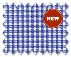 Wrinkle Free Cotton Blue Check