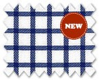 Wrinkle Free Cotton Navy Check