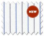 Wrinkle Free Cotton Light Blue/Black Stripe