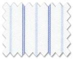 160's Superfine Cotton Blue/Light Blue Stripe