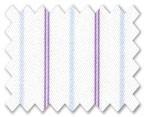 160's Superfine Cotton Purple/Light Blue Stripe