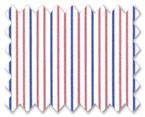 160's Superfine Cotton Orange/Blue Stripe