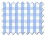 160's Superfine Cotton Light Blue Gingham Check