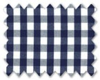 160's Superfine Cotton Navy Blue Gingham Check