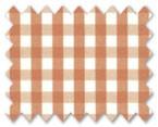 160's Superfine Cotton Orange Gingham Check