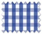 160's Superfine Cotton Dark Blue Gingham Check