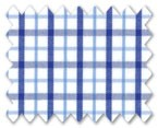 160's Superfine Cotton Dark Blue/Light Blue Check