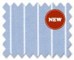 160's Superfine Cotton Light Blue/White Stripe