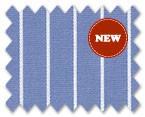 160's Superfine Cotton Blue/White Stripe