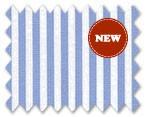 160's Superfine Cotton White/Light Blue Stripe