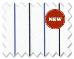 160's Superfine Cotton White/Light and Dark Blue Stripe