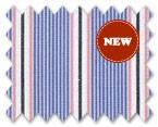 160's Superfine Cotton White/Blue/Pink/Black Stripe