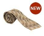 Light Brown Printed Silk Tie