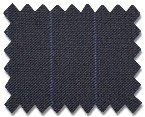 Summer Wool Navy with Blue Stripe