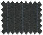 Summer Wool Medium Grey with Blue Stripe