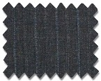 V.B. Summer Wool Charcoal with Blue Stripe