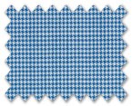 V.B. Summer Wool White with Blue Houndstooth