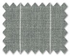 V.B. Super 120's Wool Light Grey with White Stripe