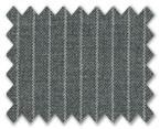 V.B. Super 120's Wool Medium Grey with White Stripe