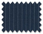 V.B. Super 120's Wool Dark Blue with White Stripe