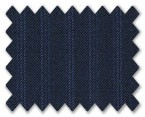 V.B. Super 120's Wool Dark Blue with Light Blue Stripe