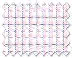 Zegna Timeless 100% Cotton Pink/White with Blue Check