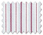Zegna Timeless 100% Cotton White with Red/Blue Stripe