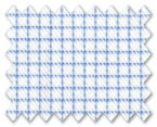 Zegna Timeless 100% Cotton White with Blue Check