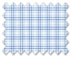 Zegna 100% Cotton White with Blue Check