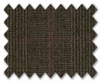 Summer Wool Dark Brown with Grey/Red Prince Wales Check