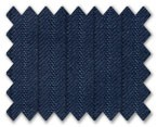 Loro Piana 130's Wool Dark Blue with Blue Stripe