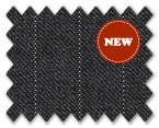 Loro Piana 130's Wool Dark Grey with White Stripe