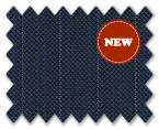 Loro Piana 130'S Wool Dark Blue with Blue Stripe