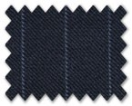 Loro Piana 130'S Wool Dark Blue with Light Blue Stripe