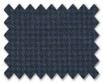 Loro Piana 130'S Wool Dark Blue Houndstooth